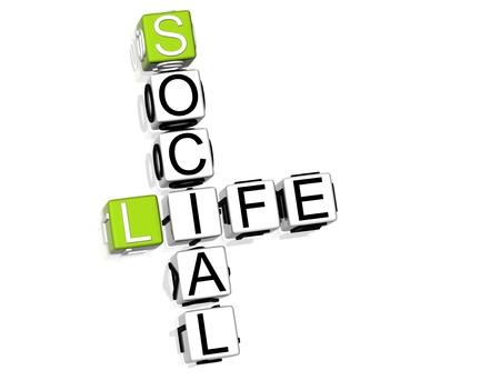 vida social: Crossword de vida social
