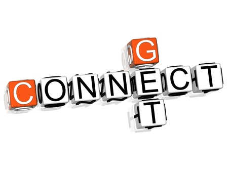 3D Get Connect Crossword  text on white background photo
