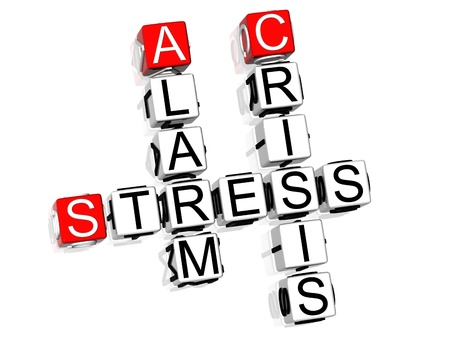 3D Stress Crossword text on white background photo