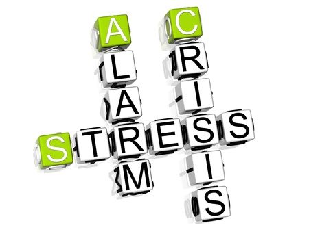 3D Stress Crossword text on white background Stock Photo - 8901566