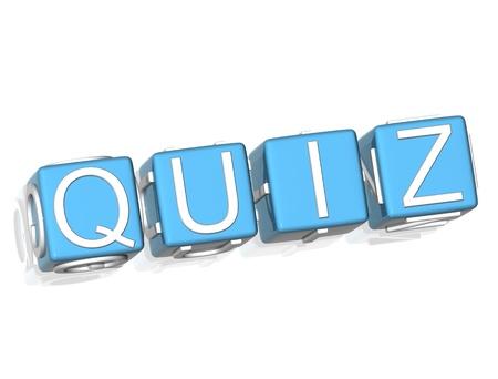 quiz test: 3D Quiz  green text on white background