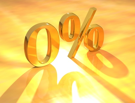3D Percent text % on gold background Stock Photo - 8901696