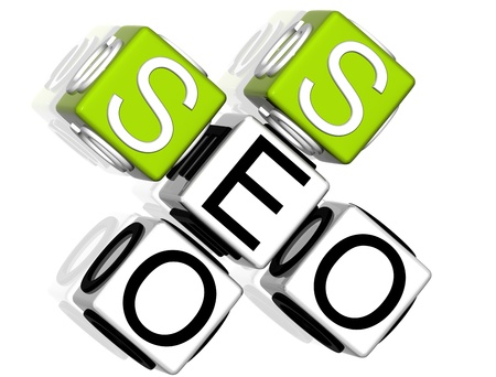 3D Seo Service Crossword  on white background Stock Photo - 8901652