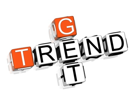 3D Get Trend Crossword on white background Stock Photo - 8901767