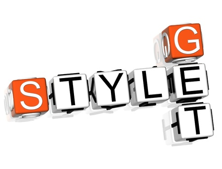 3D Get Style Crossword on white background photo