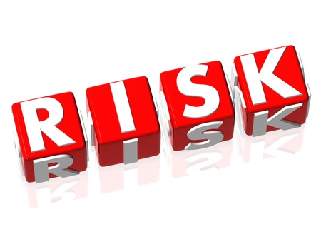 investment strategy: 3D Risk red text on white background