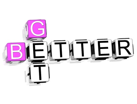 3D Get Better Crossword on white background photo