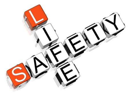 3D Safety Life Crossword  on white background Stock Photo - 8973362