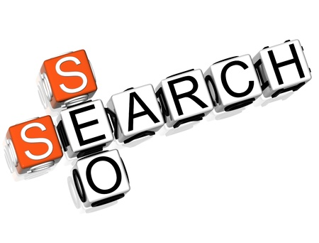 3DSeo Search Crossword on white background photo