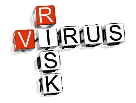 3D Virus Risk Crossword on white background Stock Photo - 8973306
