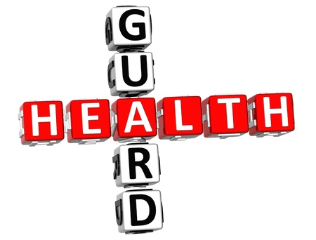 3D Health Guard Crossword on white background photo