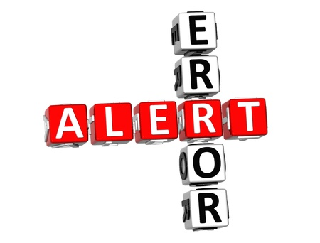 3D Error Alert Crossword on white background Stock Photo - 8973390