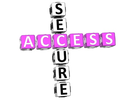 3D Secure Access Crossword on white background Stock Photo - 8973388