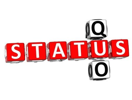 3D Status Quo Crossword on white background