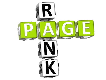 3D Page Rank Crossword on white background Stock Photo - 9089034