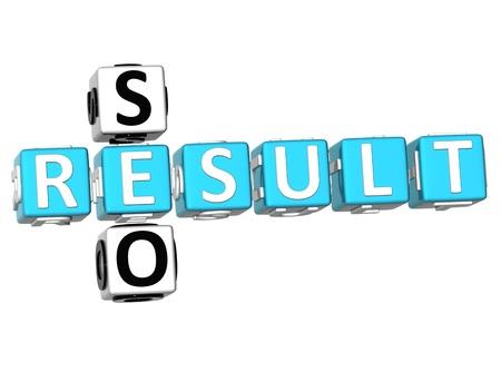 3D Seo Result Crossword on white background Stock Photo - 9089024