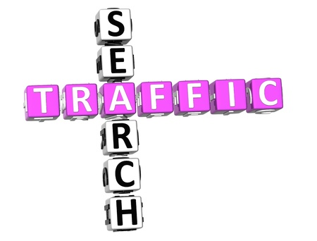 3D Traffic Search Crossword on white background Stock Photo - 9089015
