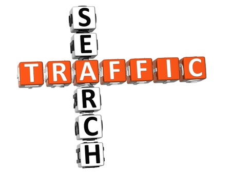 3D Traffic Search Crossword on white background Stock Photo - 9089016