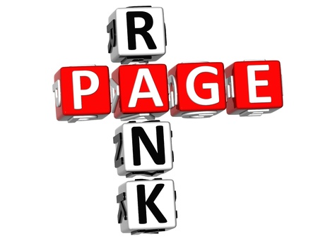 3D Page Rank Crossword on white background photo