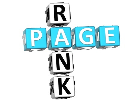 rank: 3D Page Rank Crossword on white background