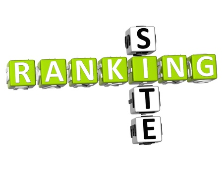 3D Ranking Site Crossword on white background Stock Photo - 9089026