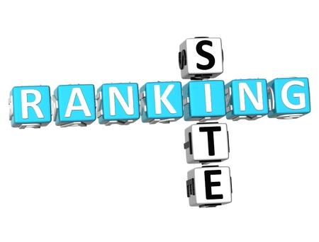 3D Ranking Site Crossword on white background Stock Photo - 9089029