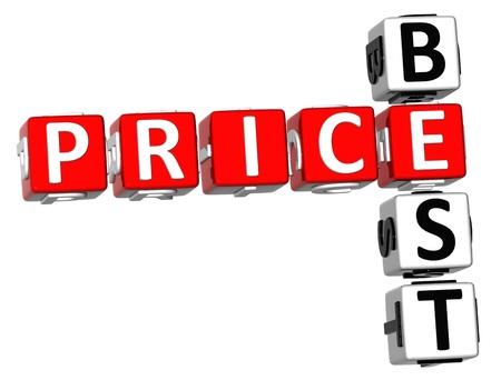 3D Best Price Crossword on white background photo