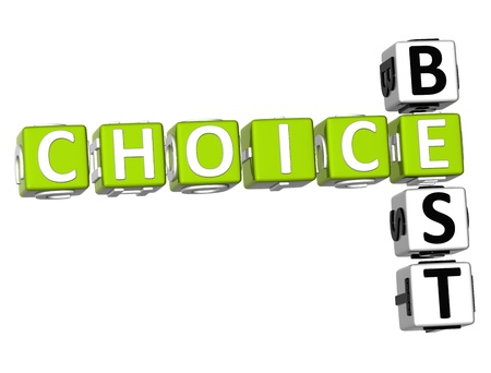 3D Best Choice Crossword on white background photo