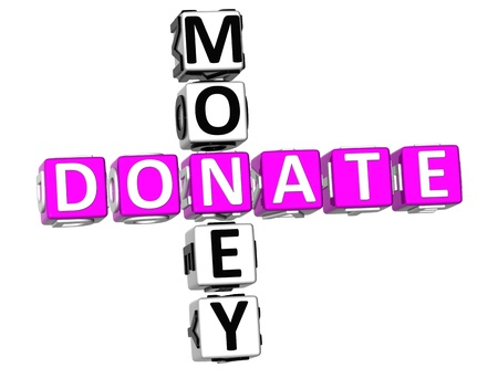 3D Donaate Money Crossword on white background photo