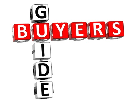 3D Buyers Guide Crossword on white background Stock Photo - 9164656