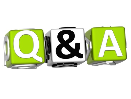 3D Question & Answer on white background  photo