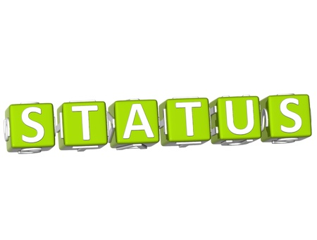 webmater: 3D Status Cube text on white background