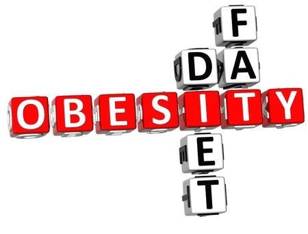 3D Obesity Diet Fat Crossword on white background Stock Photo - 9202129