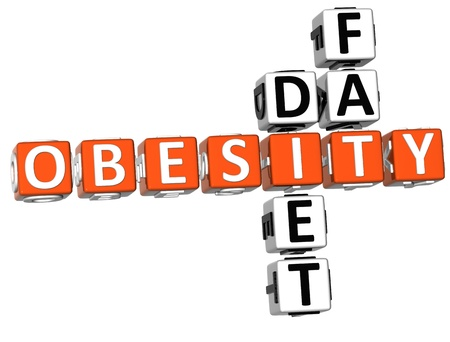3D Obesity Diet Fat Crossword on white background Stock Photo - 9202128