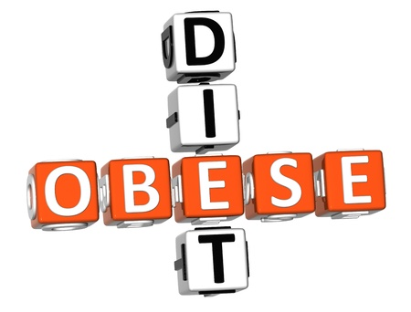 3D Obese Diet Crossword on white background Stock Photo - 9202120