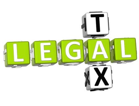 3D rechtlichen Steuer Crossword auf weißem Hintergrund Standard-Bild - 9239023