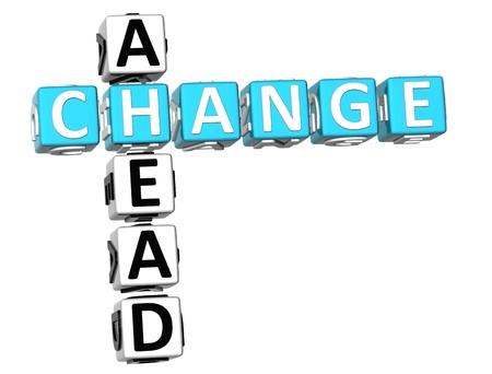 3D Change Ahead Crossword on white background Stock Photo - 9239003