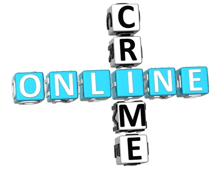 3D Online Crime Crossword on white background Stock Photo - 9239020