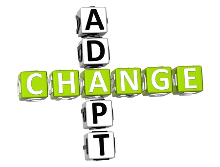 3D Adapt Change Crossword on white background Stock Photo - 9238978