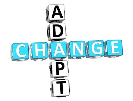3D Adapt Change Crossword on white background Stock Photo - 9238993