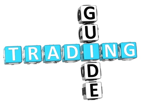 3D Trading Guide Crossword on white background Stock Photo - 9239021