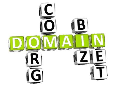 3D Domain Org Com Biz Net Crossword Stock Photo - 9341075