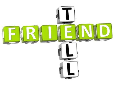 3D Tell a Friend Crossword photo