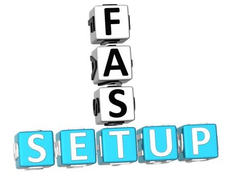 3D Fast Setup Crossword photo