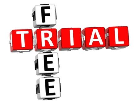 3D Free Trial Crossword Stock Photo - 9341019