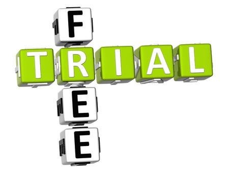 3D Free Trial Crossword photo