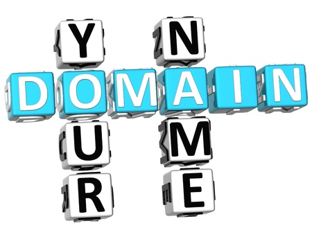 domains: 3D Domain Your Name Crossword Stock Photo