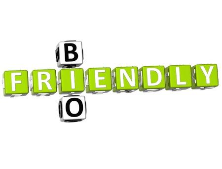 3D Bio Frendly Crossword on white background Stock Photo - 9341030