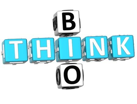 3D Think Bio Crossword on white background Stock Photo - 9341101
