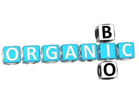 3D Organic Bio Crossword on white background Stock Photo - 9341045